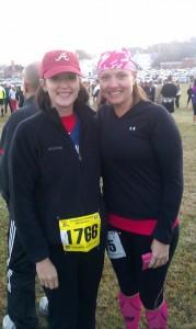 Betsy and Lori half marathon