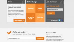 Stop CMV website screenshot